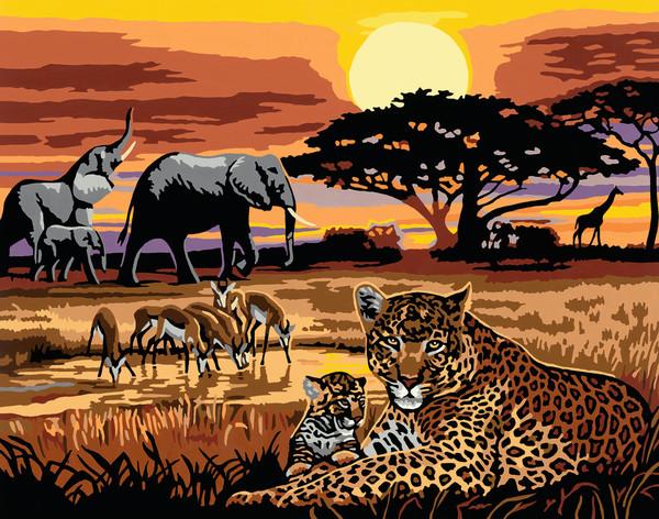 Ravensburger Malen nach Zahlen Serie Premium 40 x 30 cm - Afrikanische Impression
