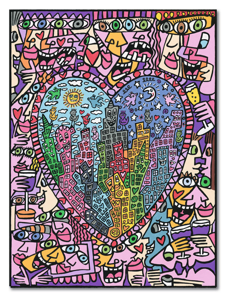 Ravensburger Malen nach Zahlen Serie Premium 30 x 40 cm - Rizzi: It's Heart Not To Love My City