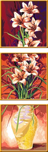 Ravensburger Malen nach Zahlen Sonderserie Premium Triptychon 30 x 90 cm - Duftende Blüten