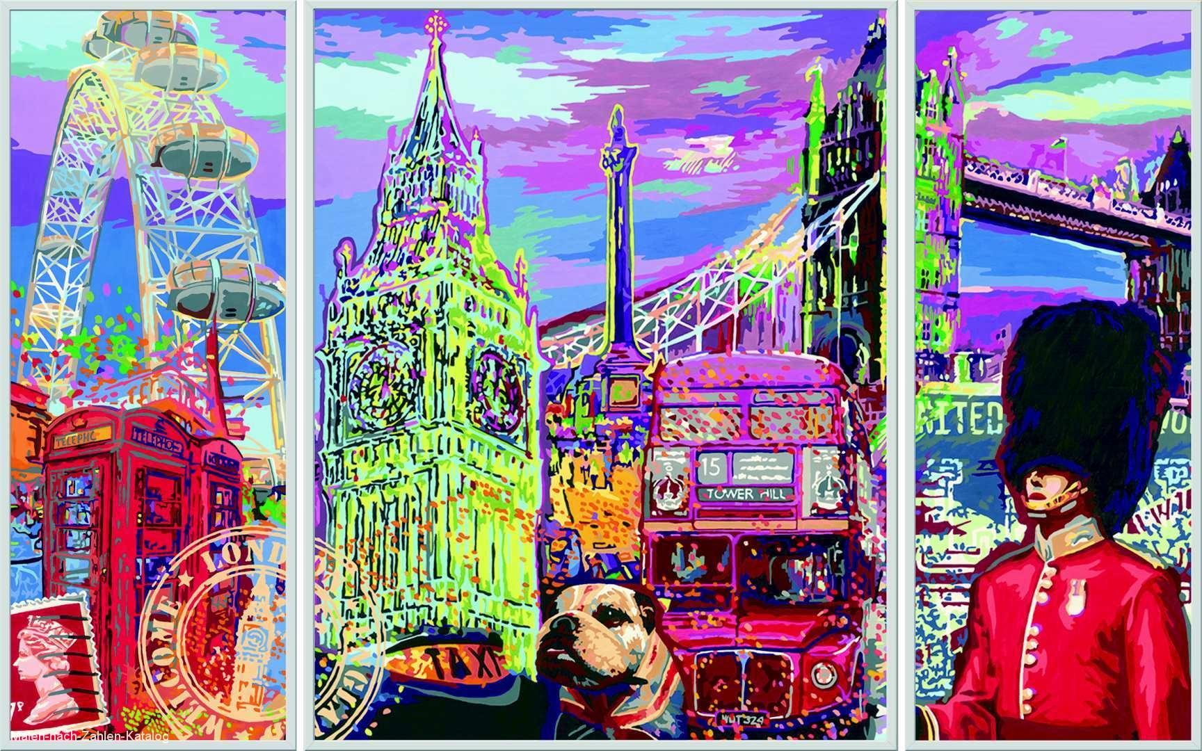 Ravensburger Malen nach Zahlen Serie Premium Triptychon - London City