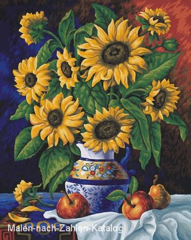 Schipper Malen nach Zahlen Meisterklasse Premium 40 x 50 cm - Stillleben mit Sonnenblumen