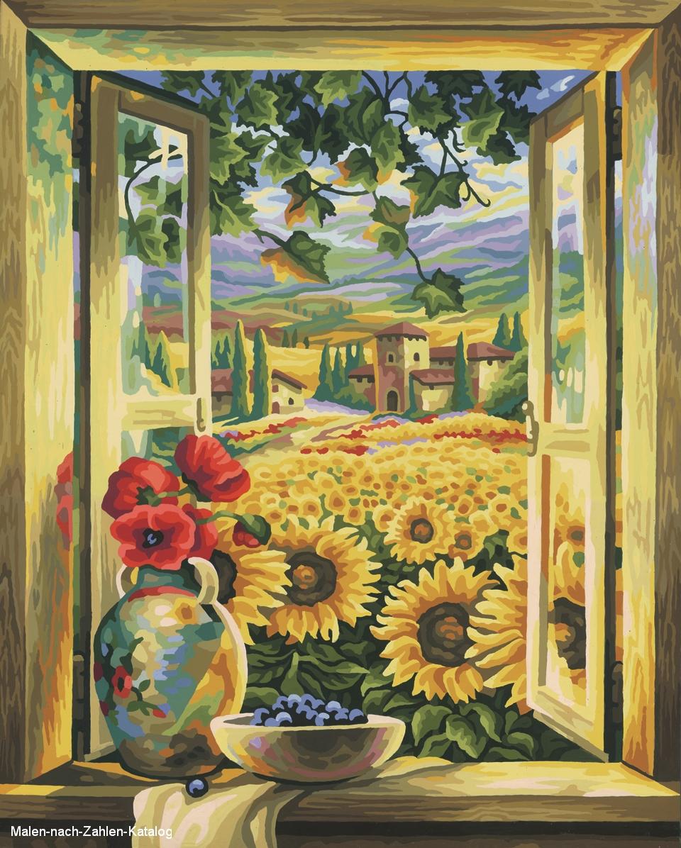 Schipper Meisterklasse Premium 40 x 50 cm - Sonnenblumenfelder