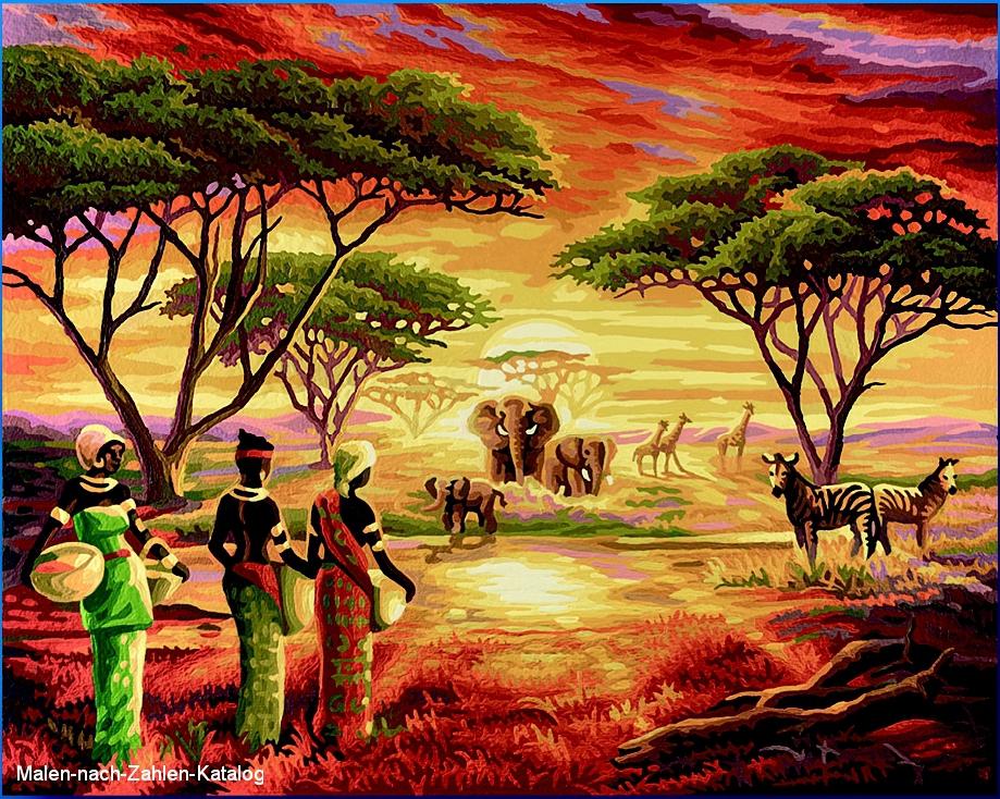 Schipper Malen nach Zahlen  - Malerisches Afrika