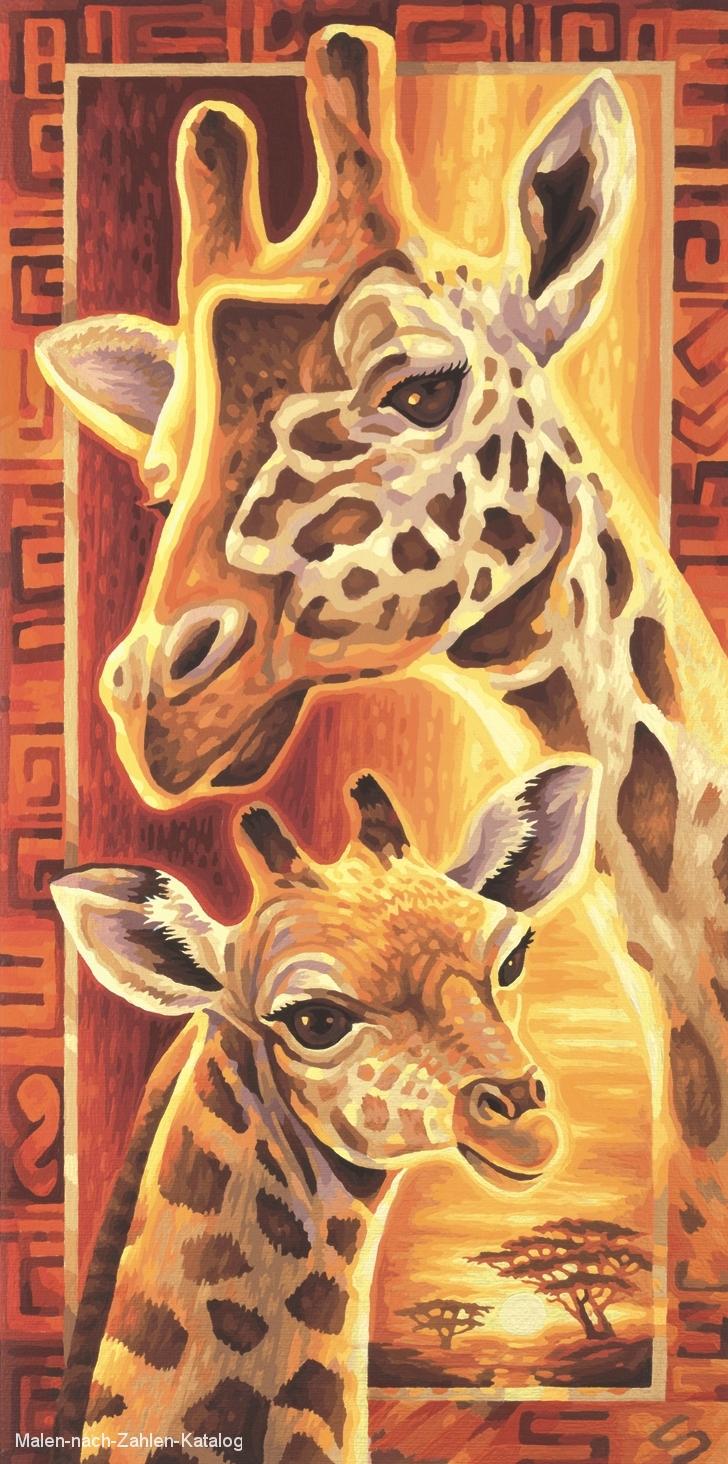 Schipper Malen nach Zahlen - Afrika - Giraffen