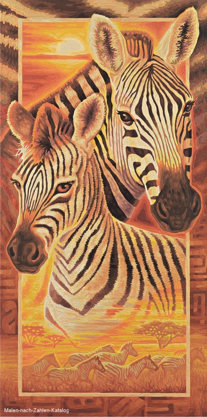 Schipper Malen nach Zahlen  - Afrika - Zebras