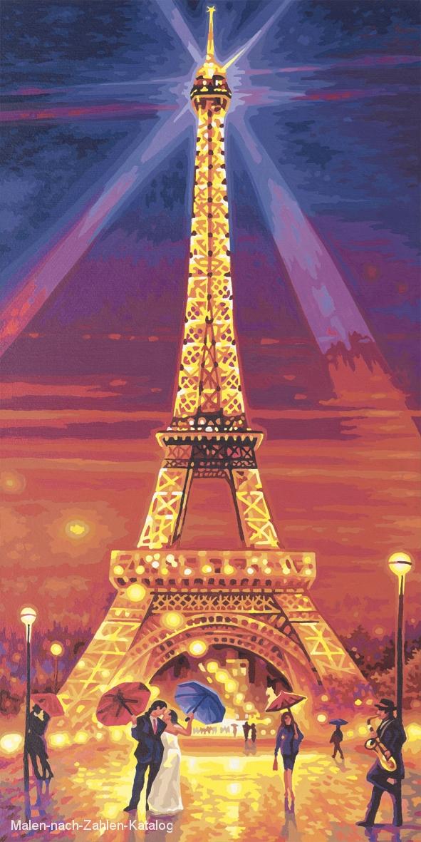 Der Eiffelturm Bei Nacht Malen Nach Zahlen Katalog