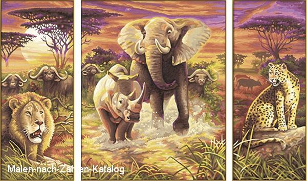 Schipper Malen nach Zahlen - Afrika - Die großen Fünf