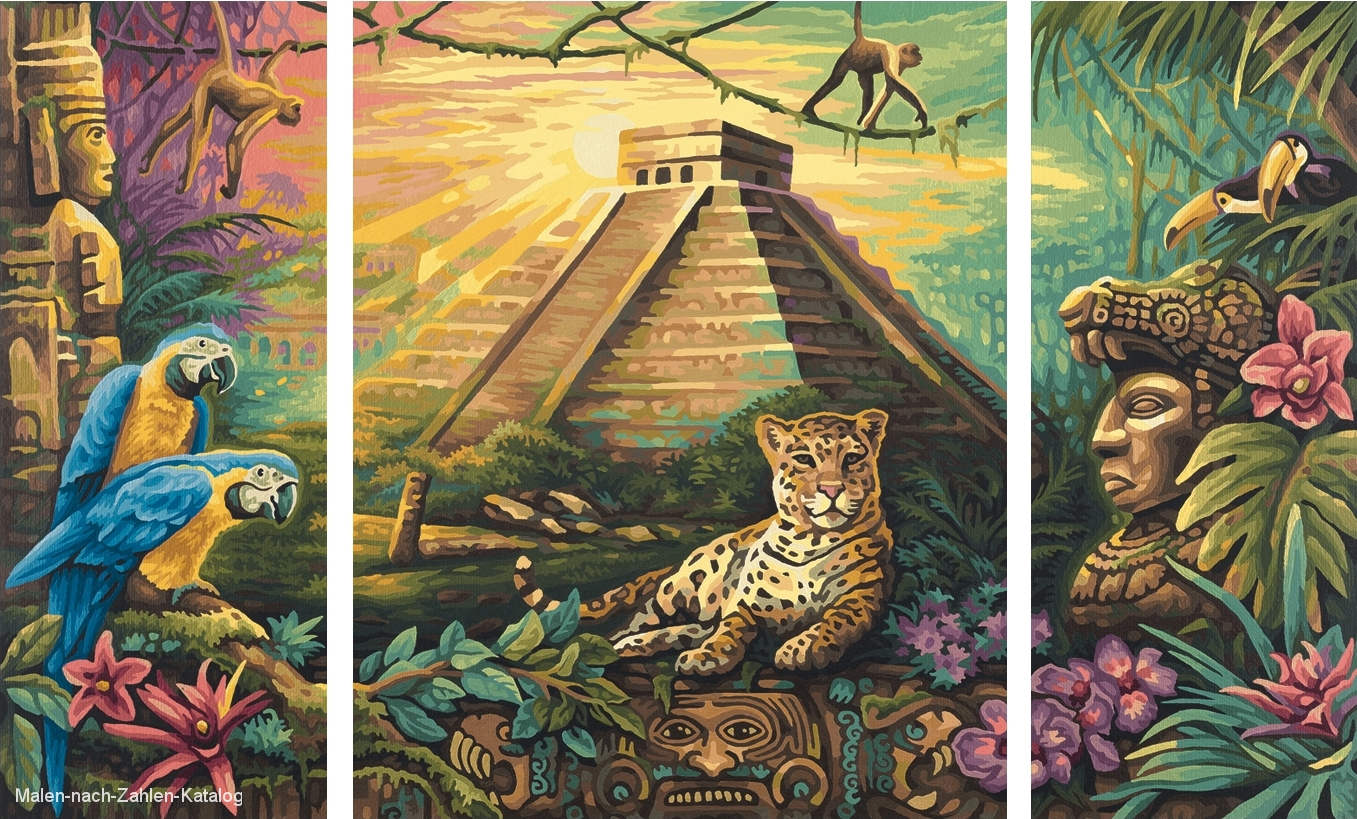 Mexiko Maya Pyramide Malen Nach Zahlen Katalog