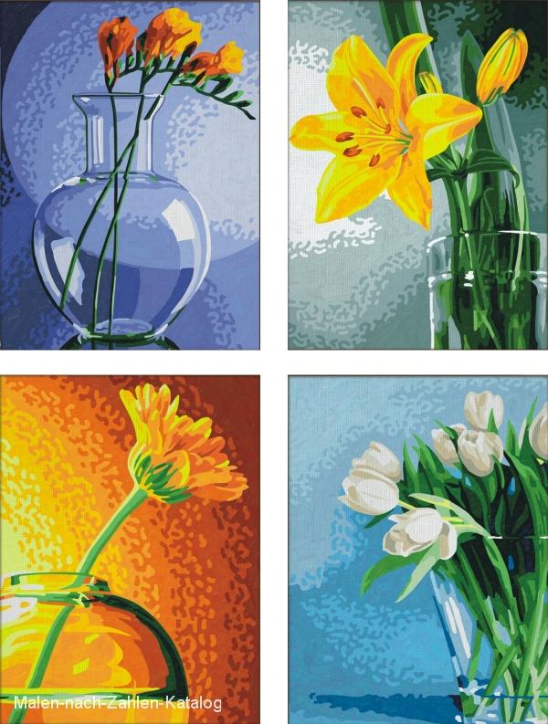 Schipper Malen nach Zahlen Quattro 18 x 24 cm - Blumen im Licht