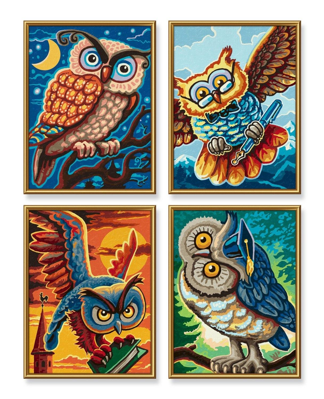 Schipper Malen nach Zahlen Quattro 18 x 24 cm - Vogel der Weisheit