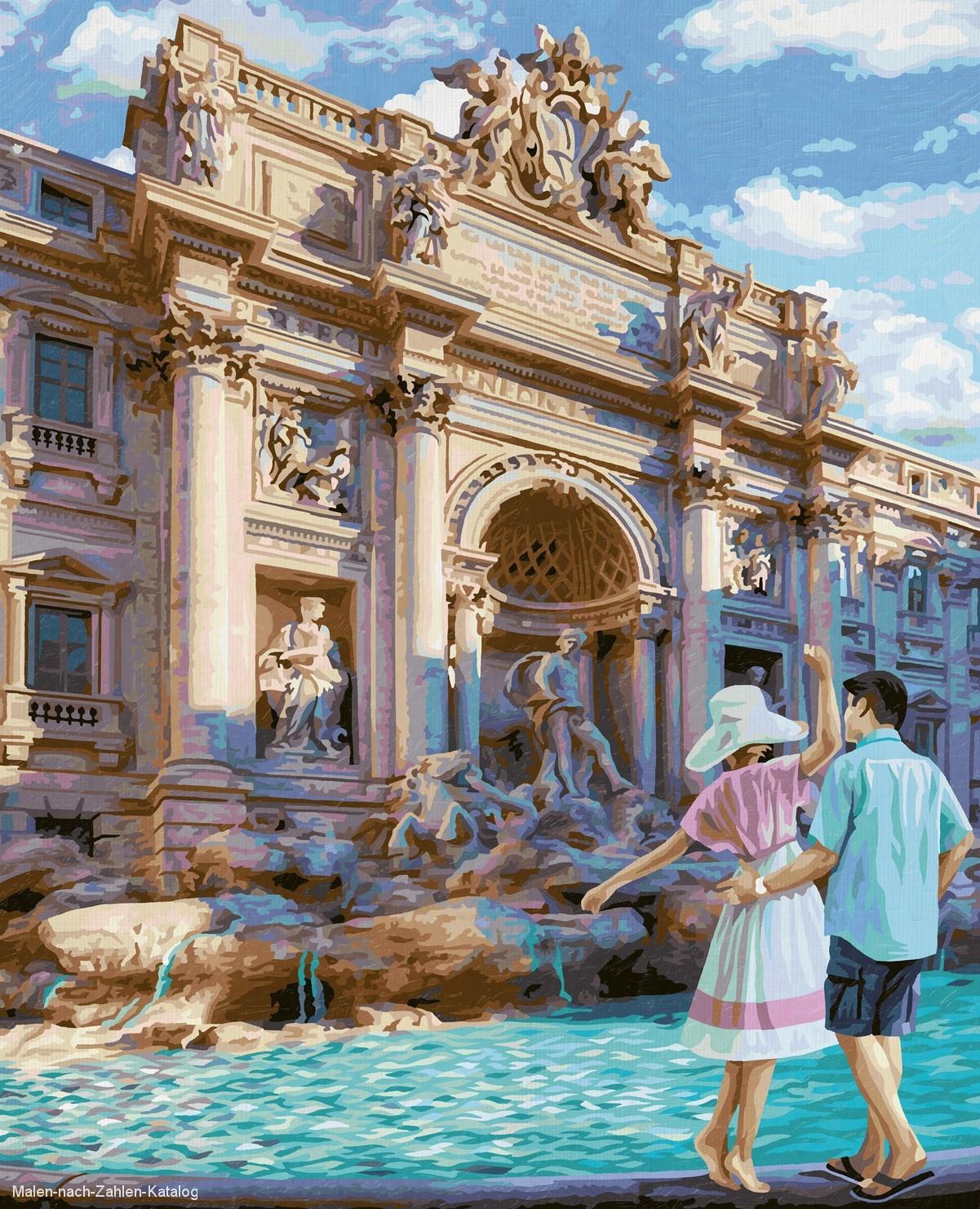Schipper Malen nach Zahlen Premium 40 x 50 cm - Fontana di Trevi in Rom