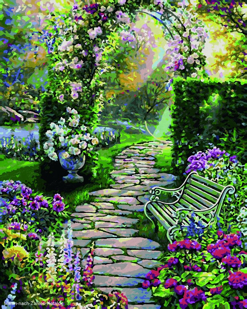 Schipper Malen nach Zahlen Klassiker 24 x 30 cm - Mein schöner Garten