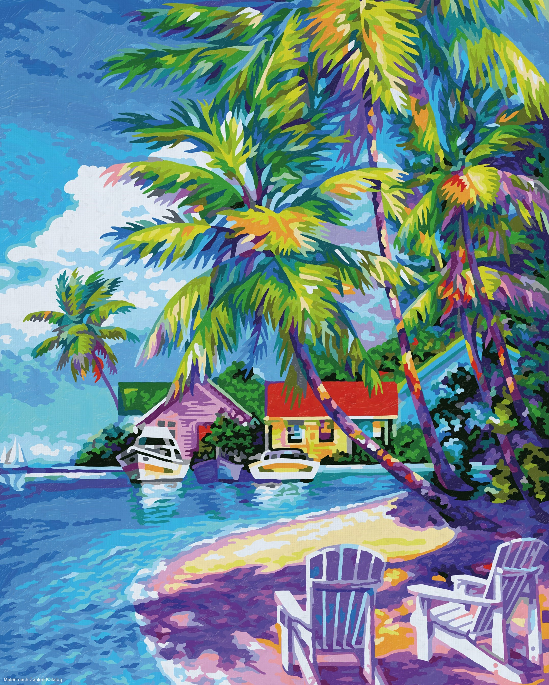 Schipper Malen nach Zahlen Premium 40 x 50 cm - Sonnige Karibik