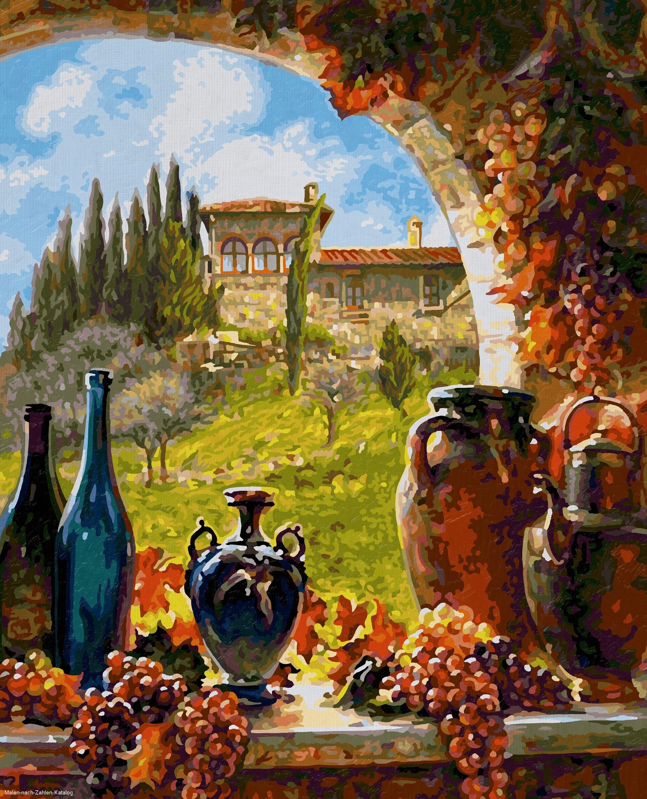 Schipper Malen nach Zahlen Premium 40 x 50 cm - Wein aus der Toskana