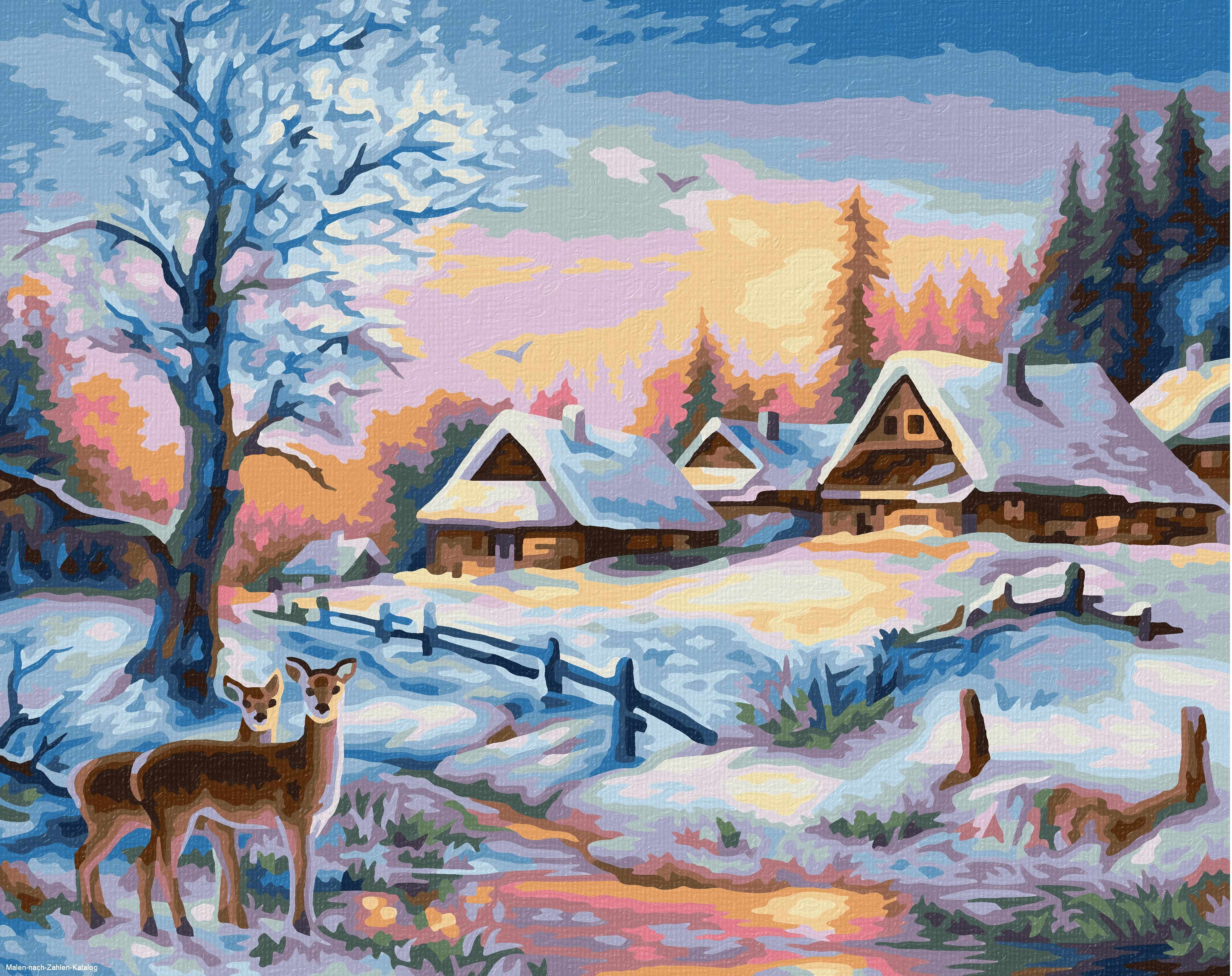 Schipper Malen nach Zahlen Klassiker 24 x 30 cm - Winterlandschaft